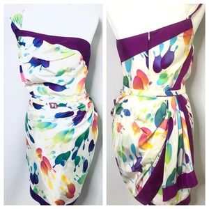 Thierry Mugler Vintage Paint Splatter Silk Dress